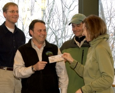 The Gunks Climbers' Coalition donating $10,000 to the Mohonk Preserve for the operation of the Waterworks Bouldering area.