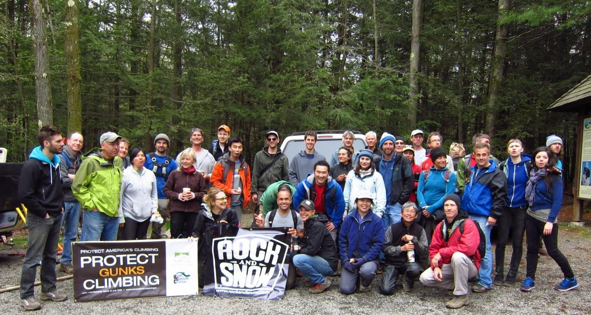 2012 Adopt-A-Crag Volunteers at Lost City, Gunks.