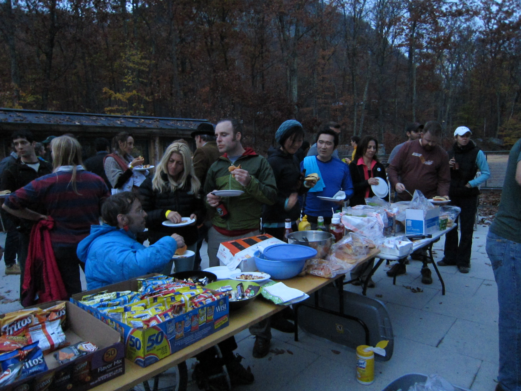 Gunks Climbers' Coalition BBQ party, October 27, 2012.