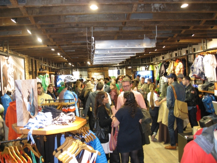 The private party for the grand opening of the Patagonia Meatpacking District NYC store, 2013.