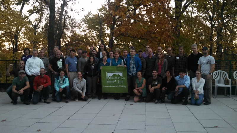 Attendees at the Access Fund Education Summit at the Gunks, 11/1/2013.