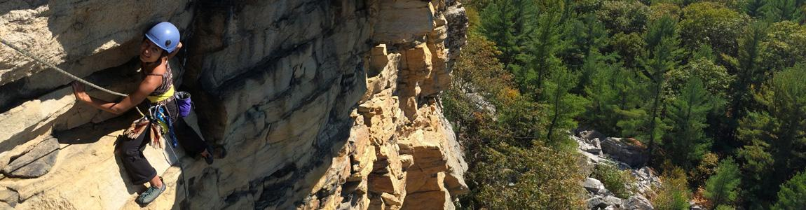 Rock climbing at the Gunks, image courtesy of Alpine Endeavors.