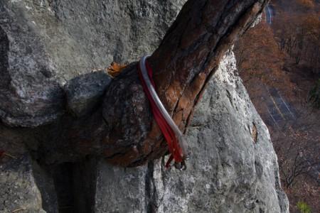 Climbing anchor on the climb