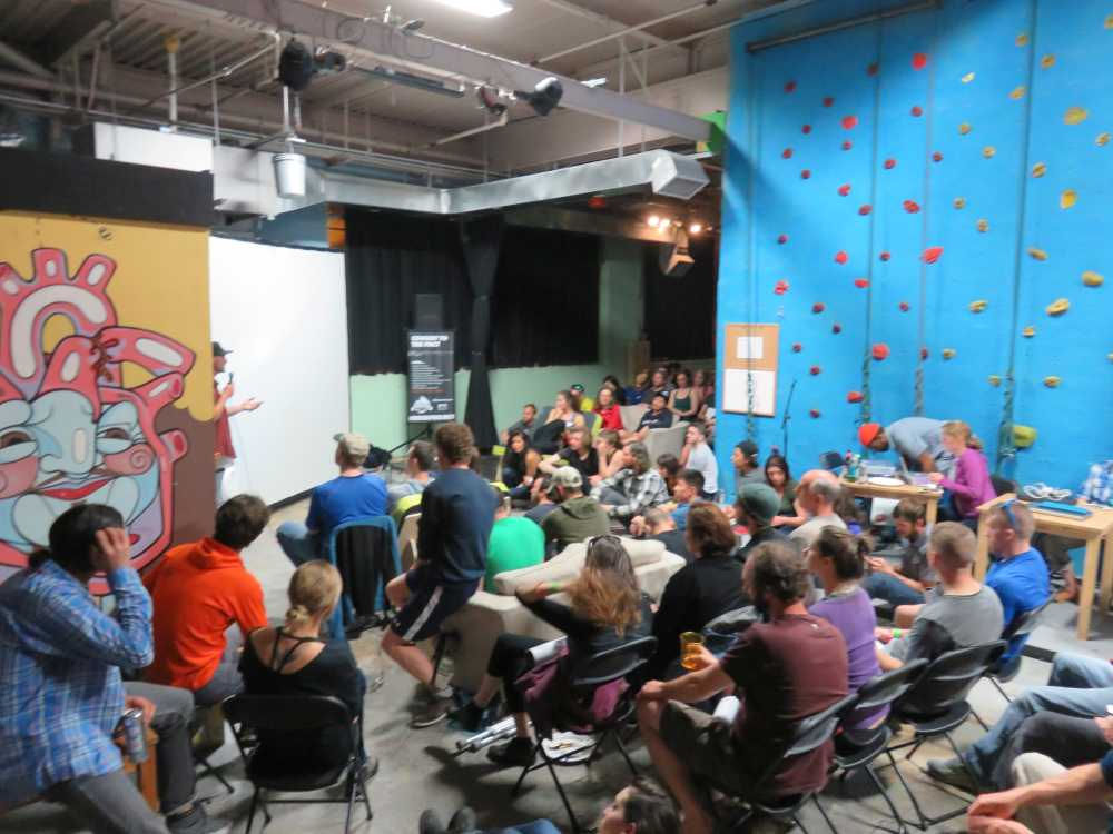 Presentations at the 2015 ROCK Project Tour in Brooklyn Boulders.