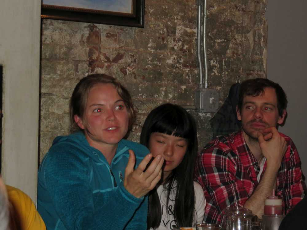 Angie Payne, Ashima Shirasi & Chad Foti at the ROCK Project roundtable in NYC.