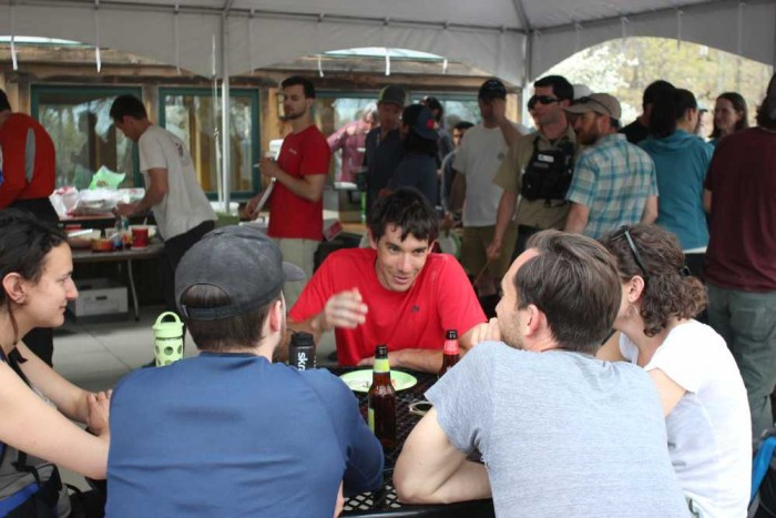 Alex Honnold and others at the GCC Members Only BBQ, May 2015.