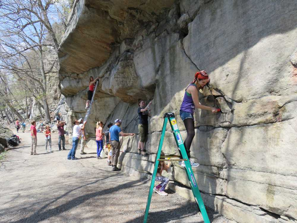 Chalk Cleaning crew, 2015 ROCK Project, Gunks