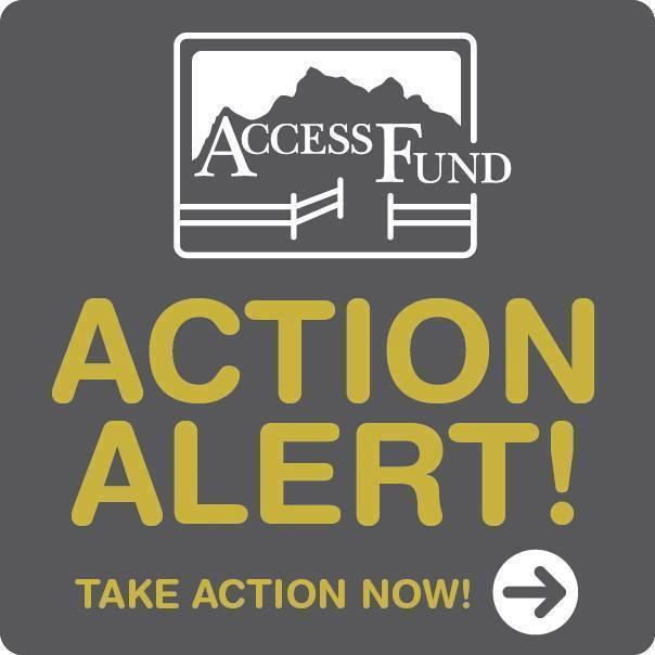 Access Fund Action Alert logo.