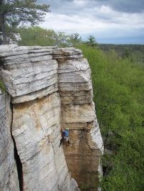 The climb, Golden Dream, at the Peter's Kill area of Minnewaska State Park Preserve in New York State.