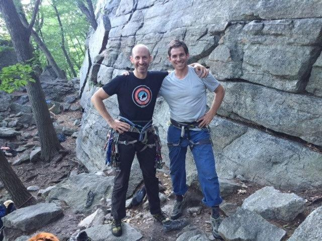 GCC Board member, David Wilkes with Erik Murdock, Access Fund Policy Director, at his first visit to the Gunks.