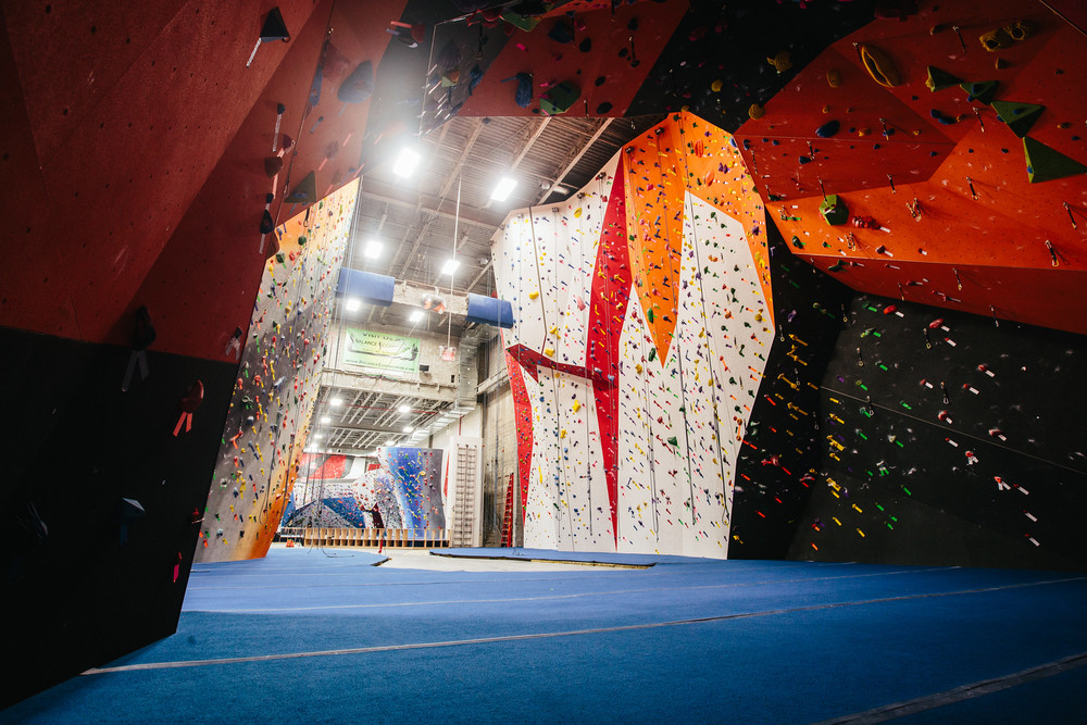 View of the Cliffs at LIC Climbing Gym in Long Island City