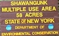 Shawangunk Multiple Use Area - Gunks Campground sign.