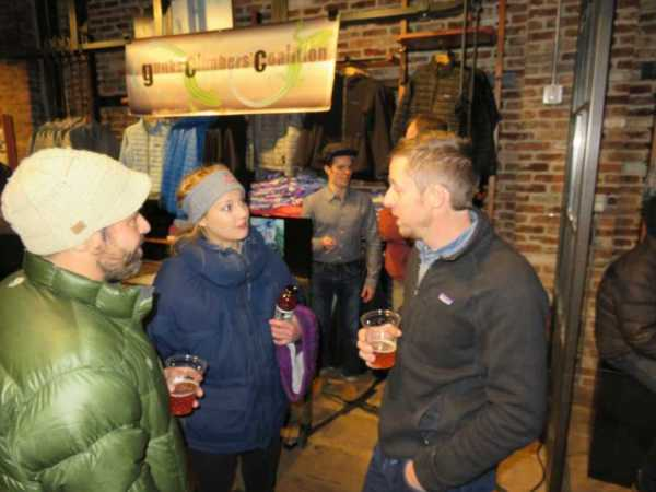 Tommy Caldwell event at the Patagonia Meatpacking District store in NYC.
