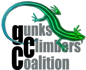 Gunks Climbers' Coalition Logo.