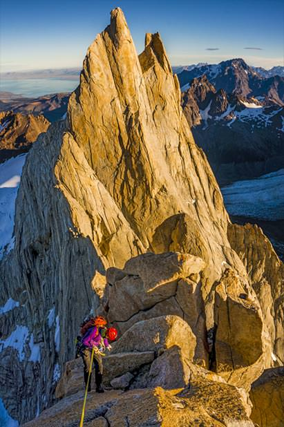 The Fitzroy Traverse in Patagonia, with Tommy Caldwell and Alex Honnold.