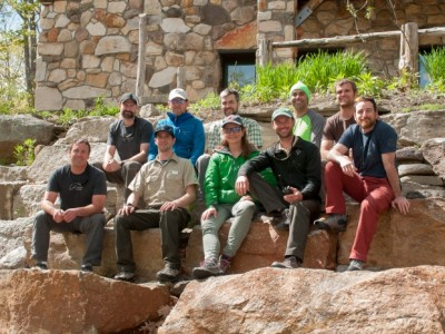 Instructors and participants from the fixed anchor training course at the Gunks.
