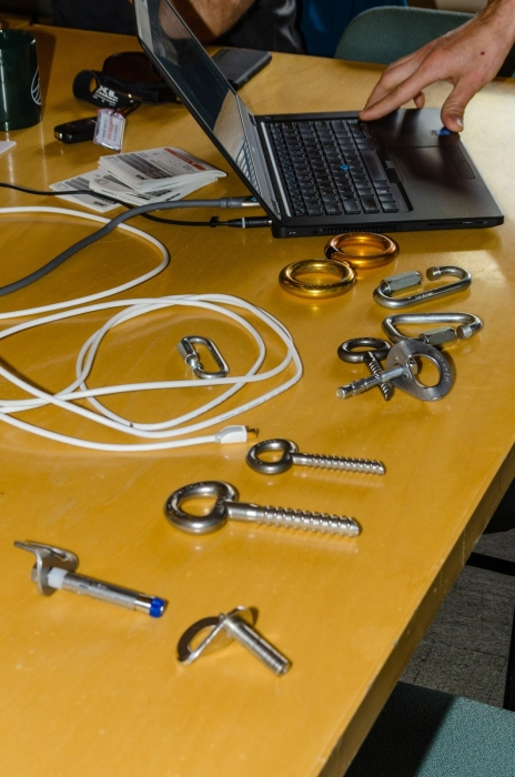 Different types of climbing fixed anchor bolts. Photo: Jeffrey D. Haines