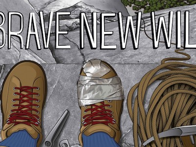 Poster for the climbing movie, Brave New Wild