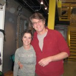 Melissa Raue with her husband, Dave, after another great night of climbing.