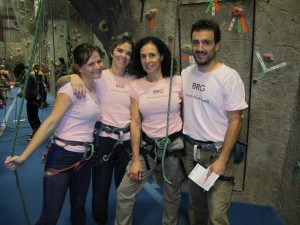 Melissa Raue at The Rock Club competing with her team in the Adult Climbing League