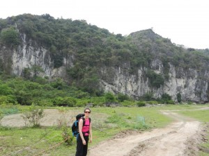 Melissa Raue climbing in Vietnam.
