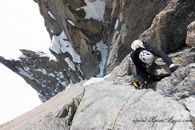 Silas Rossi climbing.