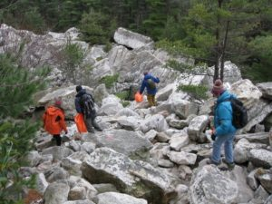 Adopt-A-Crag trash pickup at the Mohonk Mountain House in 2009.