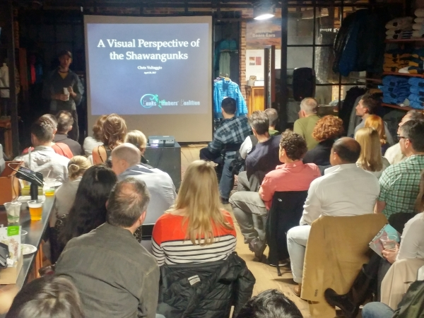 Chris Vultaggio presentation at the GCC event at Patagonia Meatpacking store in NYC on 4/20/2017.