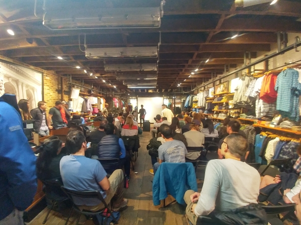 GCC & Chris Vultaggio presentation at the GCC event at Patagonia Meatpacking store in NYC on 4/20/2017.