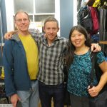 GCC Board Members, Jannette Pazer and Matt Logan with Tommy Caldwell at Patagonia Soho.