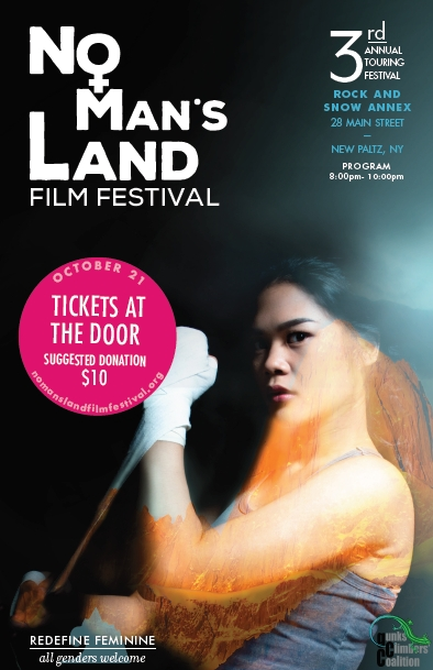 Poster for the No Man's Land Film Festival at the Gunks in October 2017.