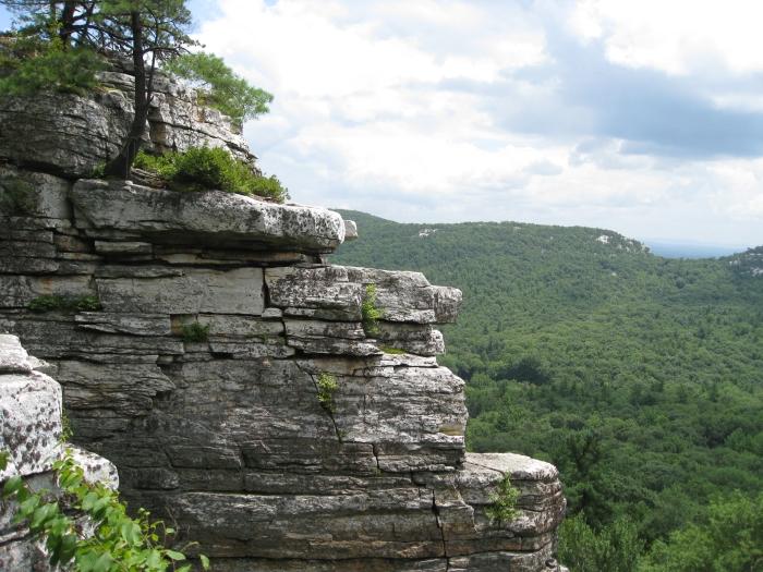 Lost City cliff, Gunks, NY.