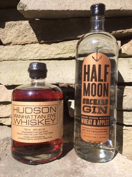 Tuthilltown Spirits raffle prizes for the GCC BBQ: Hudson Manhattan Rye Whiskey and Half Moon Orchard Gin.
