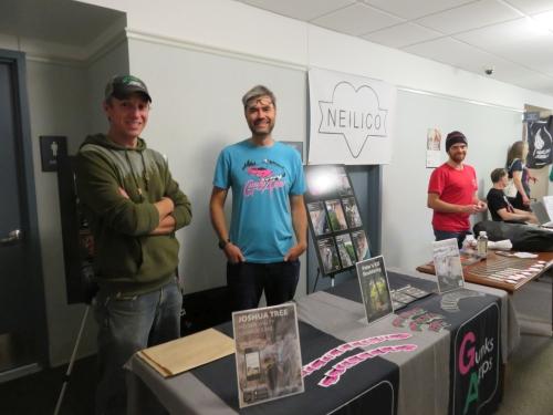 Gunks Apps and Neilico sponsor tables at the Gunks Climbing Film Festival in 2019