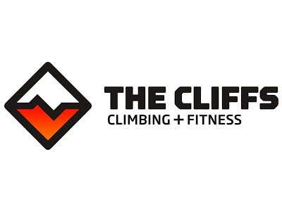 Logo for The Cliffs, climbing gyms.