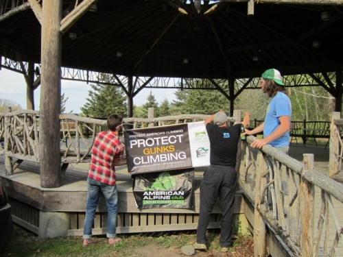 In 2012, the Gunks Climbers' Coalition held their BBQ at the Slingerland Pavilion at the Mohonk Preserve.