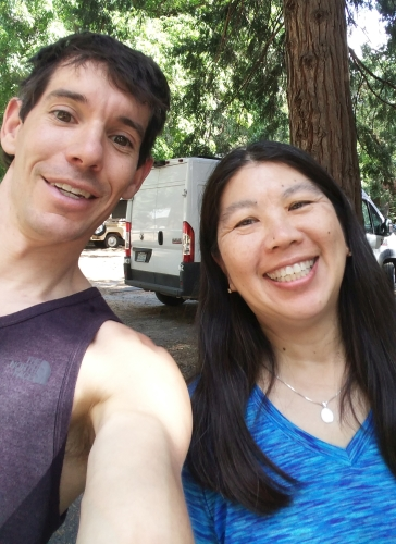 Alex Honnold and Jannette Pazer in Yosemite, September 2017.