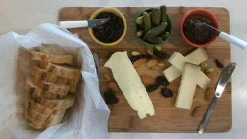 Cheese board from The Cheese Plate in New Paltz, NY. (photo courtesy of the Cheese Plate)