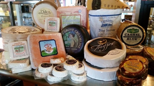 Selection of cheeses from The Cheese Plate, in New Paltz, NY. (photo courtesy of the Cheese Plate)