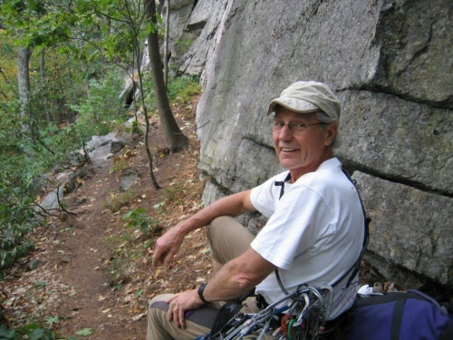 Dick Williams, at the Gunks. (photo by Jannette Pazer)