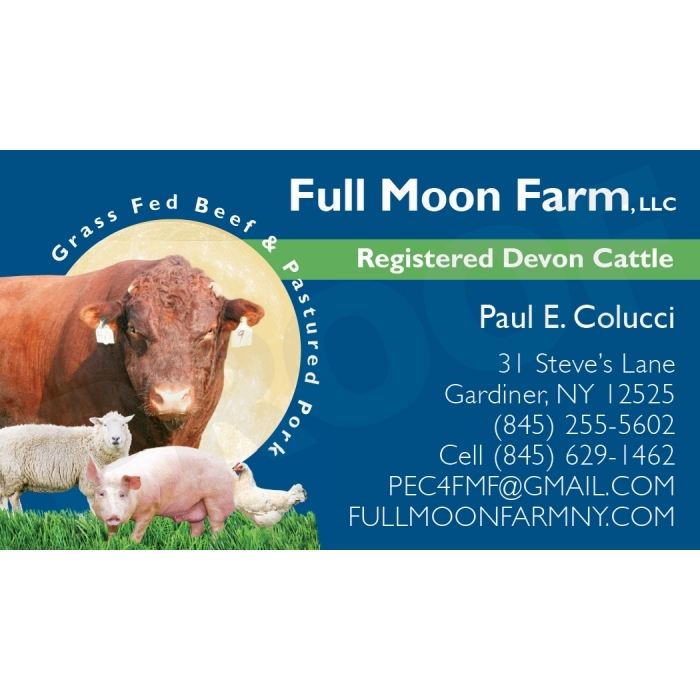 Full Moon Farm business card, Gardiner, NY