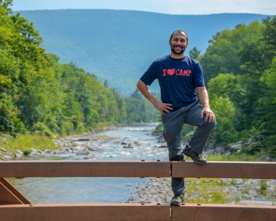 Nicholas Hernandez, board member of the Gunks Climbers' Coalition.