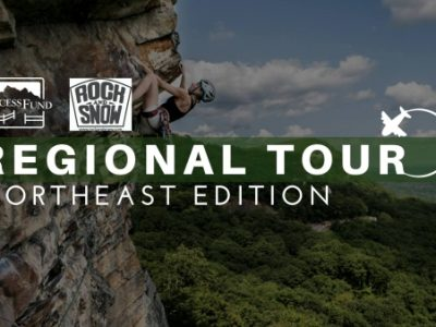 Access Fund Regional Tour poster, June 2018.