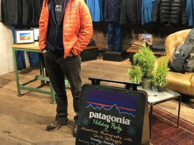 GCC Board member, Chris Vultaggio's presentation and photography sale at the Patagonia Meatpacking store in NYC on 12/9/2018.