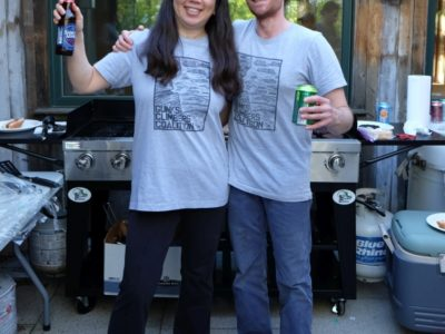 GCC Board Members Jannette and Neil at the Spring 2019 BBQ.