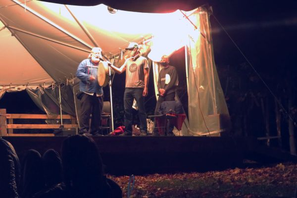 Micmac descendent Evan Pritchard's prayer of land acknowledgment for Indigenous Peoples Day at the Gunks Climbing Film Festival in 2020.