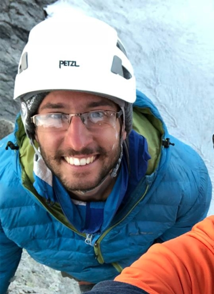 Taimur Ahmad, the Access Fund's diversity, equity, and inclusion fellow, rock climbing.