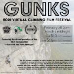 Poster for the Virtual version of the 2020 Gunks Climbing Film Festival, screening in February 2021.