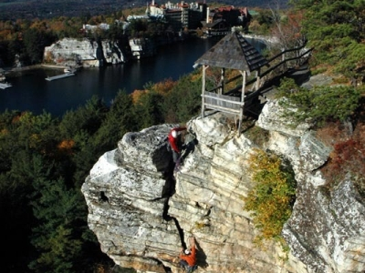Climbing at Skytop ,Gunks