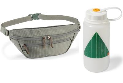 REI Trail 2 Waistpack and REI Nalgene Sustain Trail Supplies Graphic Wide-Mouth Water Bottle - 32 fl. oz